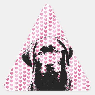 Valentines - Labrador Silhouette Sticker