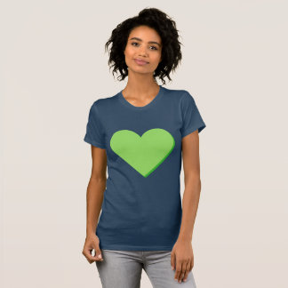 Valentine's Lime-Green Green Heart T-Shirt