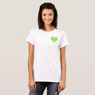Valentine's Lime Green Heart T-Shirt