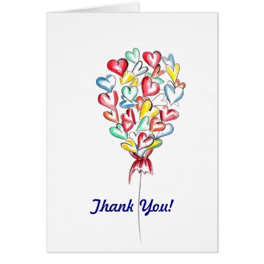 Valentine's Love Balloon Card