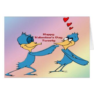 Valentine's Love Birds Greeting Card