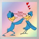 Valentine's Love Birds Poster