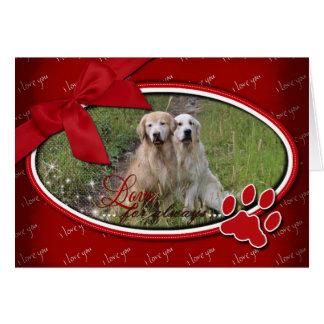 Valentine's - Love For Always - Golden Retriever Greeting Card