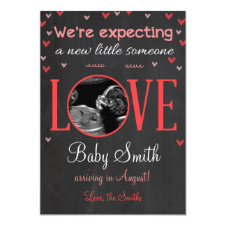 Valentine's Love Pregnancy Ultrasound Announcement