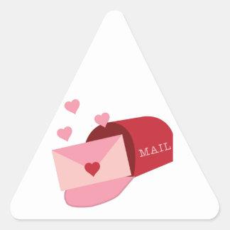 Valentines Mail Box Triangle Sticker