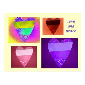 Valentine's Multicolor Digital Col... - Customized Postcard