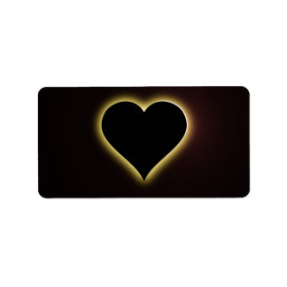 Valentines Night Sky Total Eclipse Of The Heart Address Label