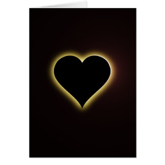 Valentines Night Sky Total Eclipse Of The Heart Card