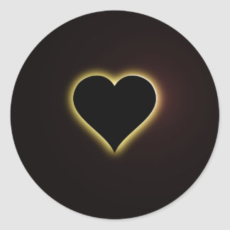 Valentines Night Sky Total Eclipse Of The Heart Classic Round Sticker