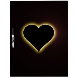 Valentines Night Sky Total Eclipse Of The Heart Dry Erase Board