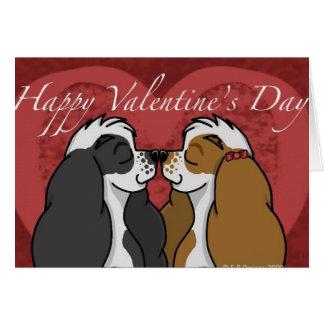 Valentines Parti Cocker Spaniel Card