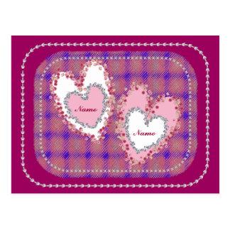 Valentines Petal Hearts scrapbook style Postcard