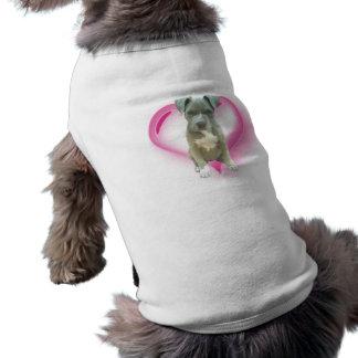 Valentines Pitbull puppy Sleeveless Dog Shirt