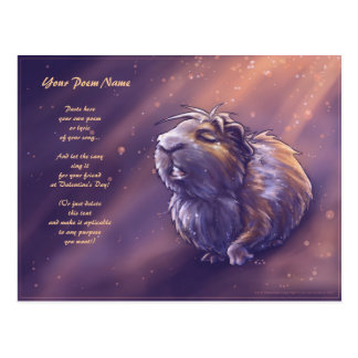 Valentine's Postcard with Singing Guinea Pig