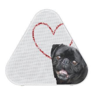 Valentine's pug dog