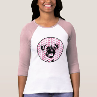 Valentines - Pug Silhouette T-shirt