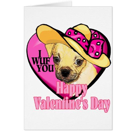 Valentines Puggle Card