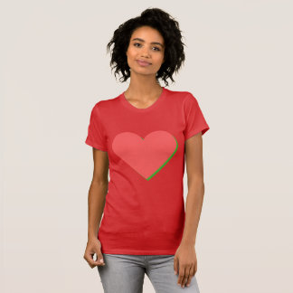 Valentine's Red Green Heart T-Shirt