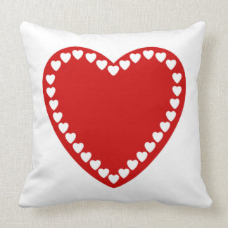 Valentines Red Heart Throw Pillow Cushions