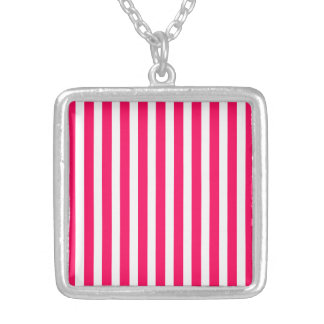 Valentines Rose Pink and White Stripes Jewelry