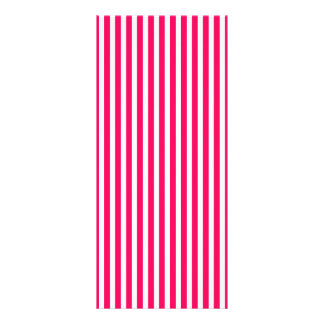 Valentines Rose Pink and White Stripes Rack Card Template