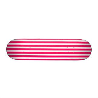 Valentines Rose Pink and White Stripes Skate Decks