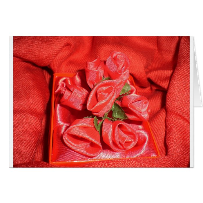 VALENTINES ROSES GREETING CARD