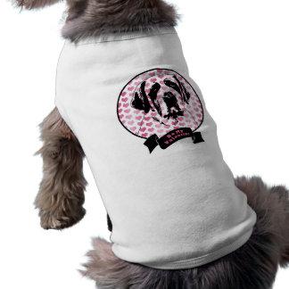 Valentines - Saint Bernard Silhouette Dog Tshirt