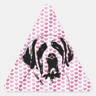 Valentines - Saint Bernard Silhouette Sticker