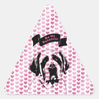 Valentines - Saint Bernard Silhouette Stickers