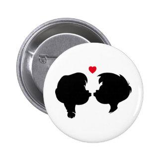 Valentine's Silhouette Pinback Button