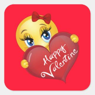Valentines Square Stickers/Emoticon Square Sticker
