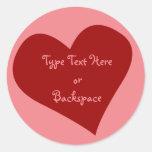 Valentine's Sticker I Love You Sticker Personalise