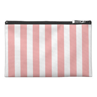 Valentines Stripes in Blush Pink and White Travel Accessory Bag