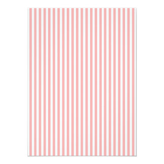 Valentines Stripes in Blush Pink and White Card