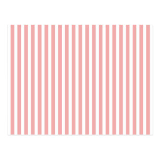 Valentines Stripes in Blush Pink and White Post Card