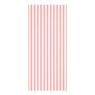 Valentines Stripes in Blush Pink and White Custom Rack Card