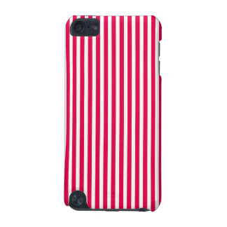 Valentines Stripes in Lipstick Pink and White iPod Touch (5th Generation) Cases