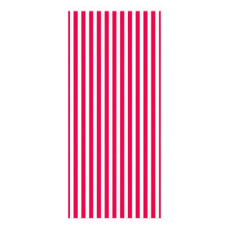Valentines Stripes in Lipstick Pink and White Rack Card Template
