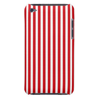 Valentines Stripes in Lipstick Red and White Case-Mate iPod Touch Case
