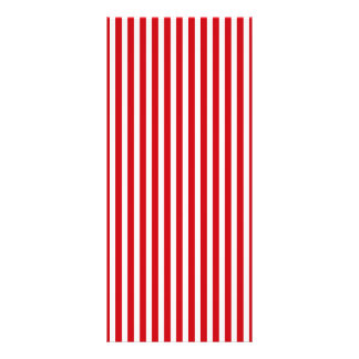 Valentines Stripes in Lipstick Red and White Full Color Rack Card