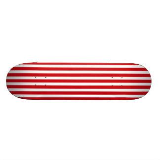 Valentines Stripes in Lipstick Red and White Skate Board Decks