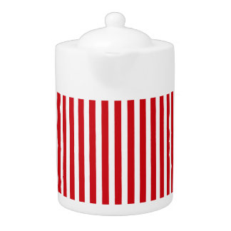 Valentines Stripes in Lipstick Red and White
