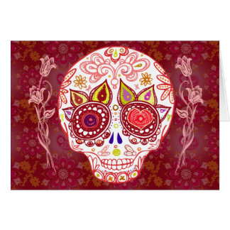 Valentines Sugar Skull Love Card