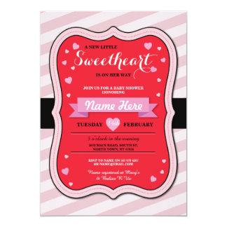 Valentines Sweetheart Baby Shower Girl Love Invite