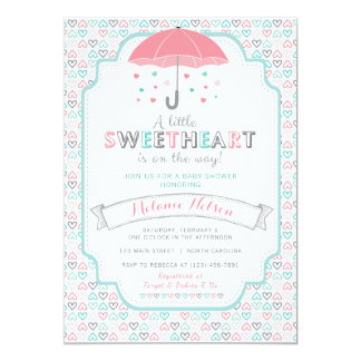 Valentine's Sweetheart Baby Shower Invitation