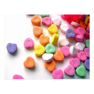 Valentines Sweethearts Candy Postcard