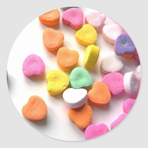 Valentines Sweethearts Candy Sticker