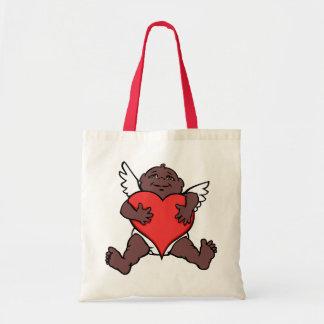 Valentines Tote Bag African Cupid Custom Bags