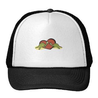 Valentines Turtle Love Cap